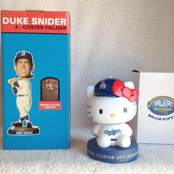 Duke Snider and Hello Kitty Bobblehead