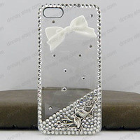 Ancient silver bird and tree branches, white BOM, transparent phone case for iphone 5 iphone 4 iphone 4s