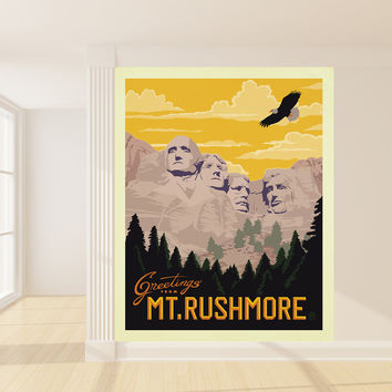 Anderson Design Group's Mt. Rushmore Mural wall decal