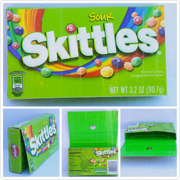 Upcycled - Sour Skittles Candy Box - Wallet - Pouch - Cell Phone Holder