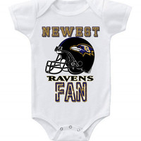 NEW Football Baby Bodysuits Creeper NFL Baltimore Ravens #2