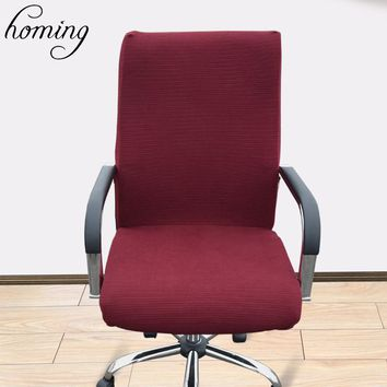 1pc Solid Color Big Elastic Computer Chair Cover Living Room Without Armrest Office Stretch Tight Wrap Seat Case Home Decor