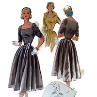 Vintage McCall's Sewing Pattern, 1950's Ladies Dress, Misses Afternoon Dress, Pattern #8574, Size 12, Bust 30 , Retro Fashion, Film Wardrobe