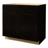 Shop Diamond NOW Brookton 36-in W x 35-in H x 23.75-in D Espresso Sink Base Cabinet at Lowes.com