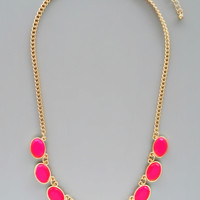 Hot Pink Isla Necklace