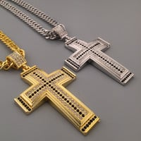 Stylish New Arrival Gift Shiny Jewelry Hot Sale Fashion Hip-hop Club Cross Rack Necklace [6542718403]