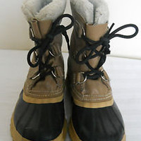 Womens SOREL MANITOU Wool Insulated Winter Ankle Snow Boots Waterproof Sz 8.5