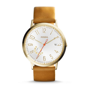 Vintage Muse Tan Leather Watch