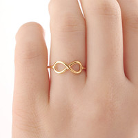Infinity knuckle ring, gold infinity midi ring, silver ring, chic ring, delicate ring, eternity ring, best friend ring, thin ring, rose gold