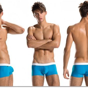 ZOD Men's Boxer Brief Trunks Underwear in Solid Colors