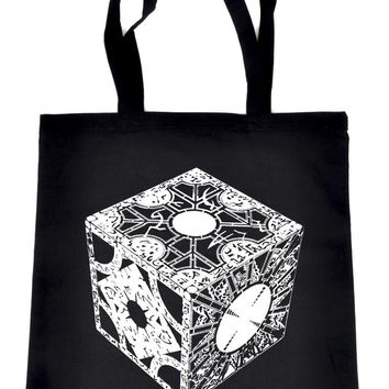Puzzle Box Tote Book Bag Hellraiser Pinhead Horror Handbag