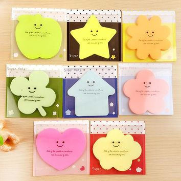 ac NOOW2 Cute Korean Kawaii Star Apple Post It Planner Stickers Memo Pad Sticky Notes Pads Stationery School Office Supplies Accessories