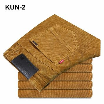 New Autumn and Winter  Male Straight Corduroy Trousers of Leisure Business Men's Cotton Corduroy Breathable Casual Pants