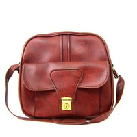Dark Red carry on luggage bag tote Vintage Train Case Soft Shell Suitcase Large Retro Vacation Bag