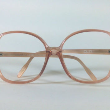 Dino Art Mod: 60-30, Authentic Vintage 70s Pink Copper Oversize Frames made in West Germany, NOS