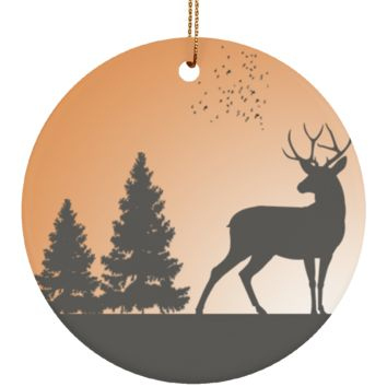 Deer Standing In The Woods Christmas Ornament