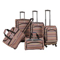 American Flyer Luggage, Gold Coast 5-piece Expandable Spinner Luggage Set