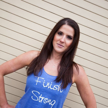 Finish Strong racerback tank top