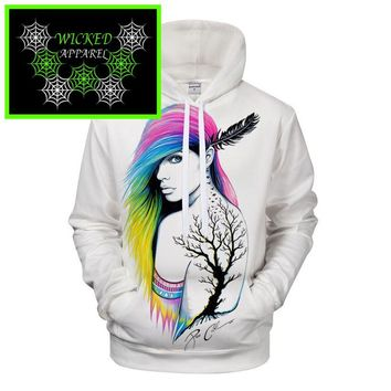 Wicked Apparel City Indian Hoodie by Pixie cold #118