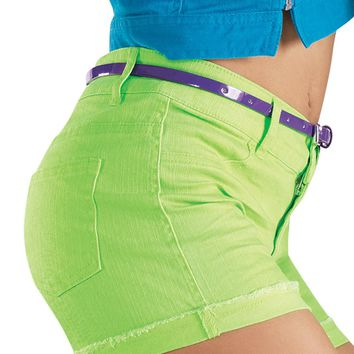 Bright Color Denim Shorts