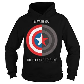 Captain America shield I with you till the end of the line shirt Hoodie