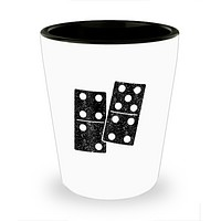 Funny Dominoes 6 and 9 domino shot glass