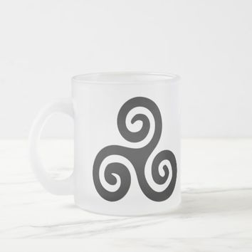 Buddhist Triskelion Icon Meditation series Frosted Glass Coffee Mug