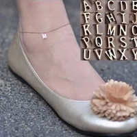 Shiny Gift Jewelry Cute Stylish Ladies Sexy New Arrival Alphabet Simple Design Anklet [6937881799]