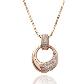 18K Gold Plated  Circle Pendant