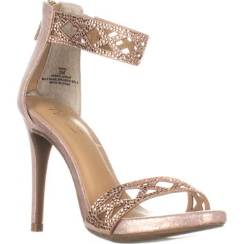 TS35-Riana Ankle Strap Heels, Rose Gold, 6 US