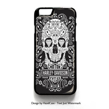 Harley Davidson Logo for iPhone 4 4S 5 5S 5C 6 6 Plus , iPod Touch 4 5  , Samsung Galaxy S3 S4 S5 Note 3 Note 4 , and HTC One X M7 M8 Case Cover