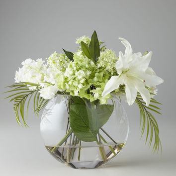 Green & White Faux Flowers - John-Richard Collection
