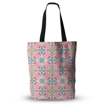 "Nandita Singh ""Boho In Multicolor"" Pink Abstract Everything Tote Bag"