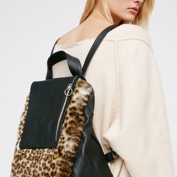 Free People Dominique Faux Fur Backpack