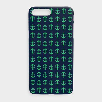 Anchor Toss Cell Phone Case iPhone 7Plus / 8Plus - Green on Navy