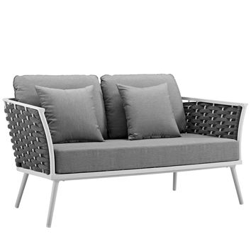 Stance Outdoor Patio Aluminum Loveseat