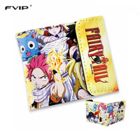 FVIP 2016 New Design Wallet Anime Cosplay Cartoon Fairy Tail Sailor Moon My Little Pony Naruto Three Fold Purse
