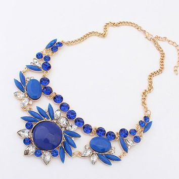 Fashion rhinestone Vintage statement choker necklace