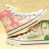 Custom Converse-Hand Paint Shikamaru Nara Sketch on Converse (6 available)