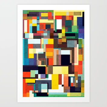 The City I Live In Art Print by Anai Greog