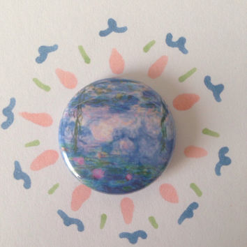 "monet ""water lilys"" pin"