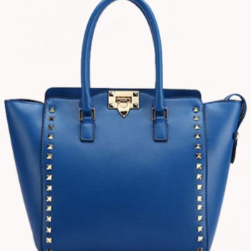 PopStar Leather Medium Tote Blue