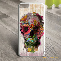 Skull-Flowers Custom case for iPhone, iPod and iPad
