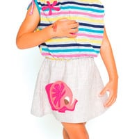Flirty Knit Dress - Elephant Applique