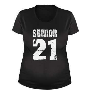 Seniors '21 Class of 2021 Maternity Pregnancy Scoop Neck T-Shirt