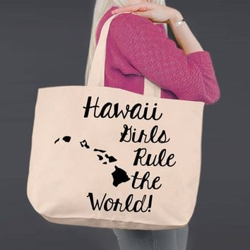 Hawaii | Personalized Canvas Tote Bag