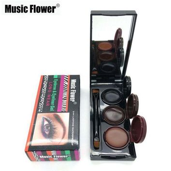 ONETOW 2016 Music Flower Brand Makeup Eyeliner Gel & Eyebrow Powder Palette Waterproof Lasting Smudgeproof Cosmetics Eye Brow Enhancers