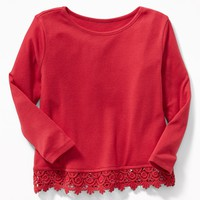Lace-Hem Swing Top for Toddler Girls|old-navy