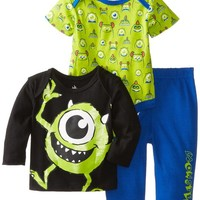 Disney Baby Boys'  Monsters 3 Piece Pant Set