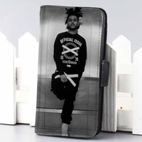 The Weeknd Music wallet case for iphone 4,4s,5,5s,5c,6 and samsung galaxy s3,s4,s5